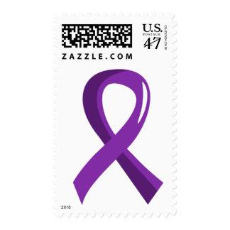 Bulimia Purple Ribbon 3 Postage