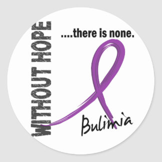 Bulimia Without Hope 1 Round Sticker