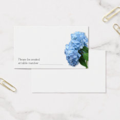 Bulk Blue Floral Wedding Escort Table Number Cards at Zazzle