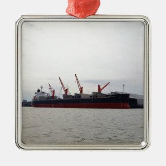 Bulk Carrier Viola Metal Ornament