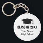 "Bulk gifts for students Graduation class keychains<br><div class=""desc"">Bulk gifts for students. Graduation keychains under $5 dollars. Custom class of graduation party favor key chains for graduate students. Cute gift idea for high school grads with personalized school name and class of year 2020 2021 2022 etc. Graduation hat / cap with tassel design and elegant typography. Also cute...</div>"