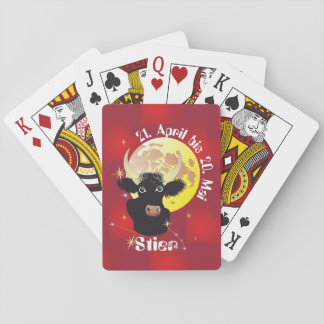 Bull 21 April to 20. May pack of cards