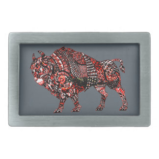 Bull 2 rectangular belt buckle