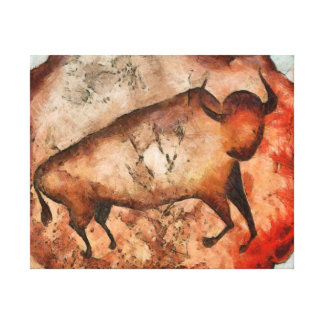 bull a la altamira canvas print