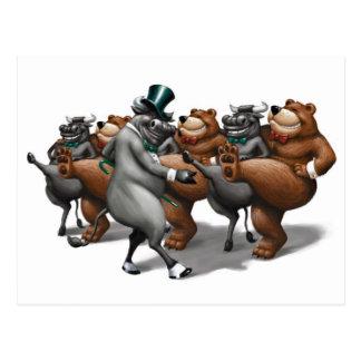 Bull and Bear Kickers Postcard