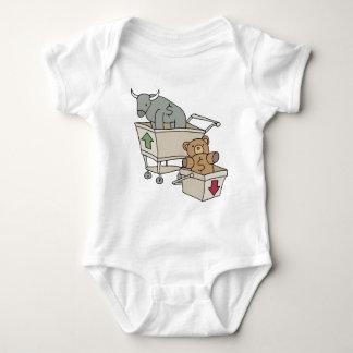 Bull and Bear Shopping Carts Baby Bodysuit