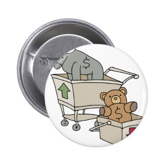 Bull and Bear Shopping Carts 2 Inch Round Button