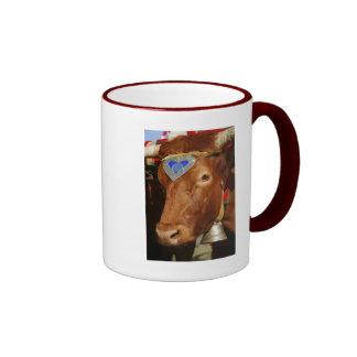 Bull and bell ringer coffee mug