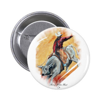 BULL AND RIDER BUTTON