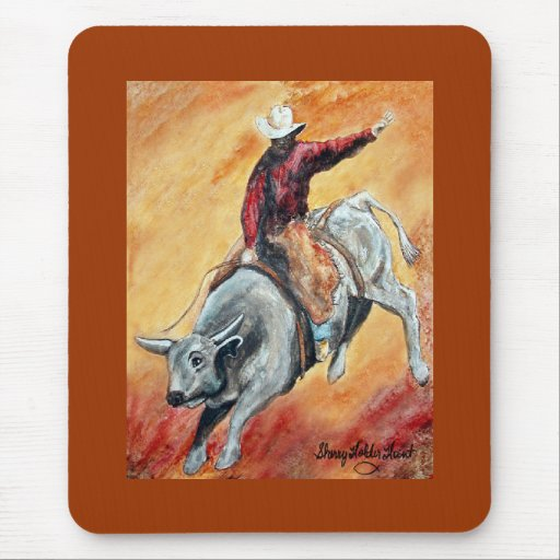 Bull and Rider Mousepad