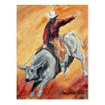 Bull and Rider Postcard