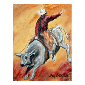 Bull and Rider Postcard