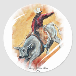 BULL AND RIDER STICKERS