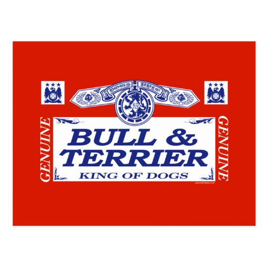 Bull And Terrier Postcard