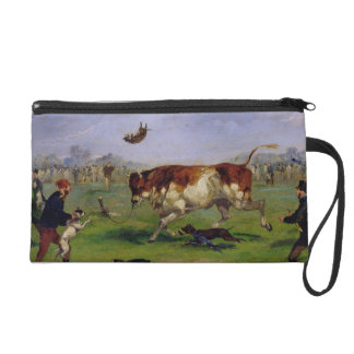 Bull Baiting (oil on paper laid on panel) Wristlets