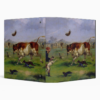 Bull Baiting (oil on paper laid on panel) Binder
