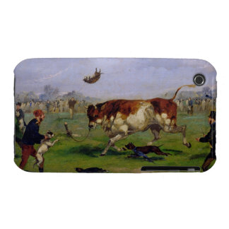 Bull Baiting (oil on paper laid on panel) iPhone 3 Case