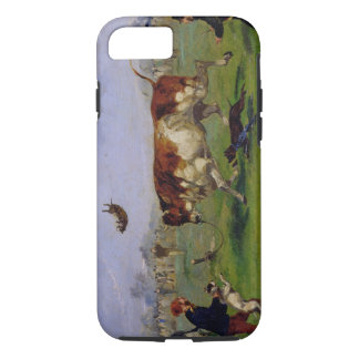 Bull Baiting (oil on paper laid on panel) iPhone 8/7 Case