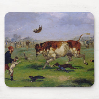 Bull Baiting (oil on paper laid on panel) Mousepad