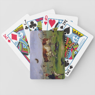 Bull Baiting (oil on paper laid on panel) Card Deck