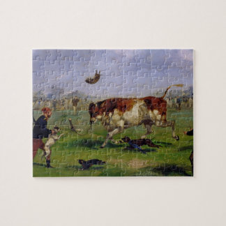Bull Baiting (oil on paper laid on panel) Puzzle