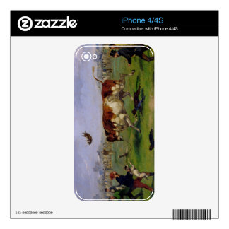 Bull Baiting (oil on paper laid on panel) Decals For The iPhone 4