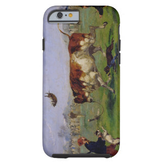 Bull Baiting (oil on paper laid on panel) Tough iPhone 6 Case