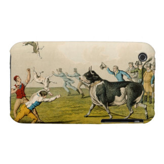'Bull Baiting', pub. by Thomas McLean, 1820, (prin iPhone 3 Cover