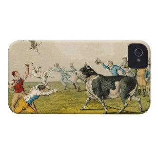 'Bull Baiting', pub. by Thomas McLean, 1820, (prin iPhone 4 Case-Mate Case