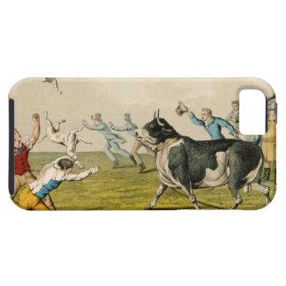 'Bull Baiting', pub. by Thomas McLean, 1820, (prin iPhone SE/5/5s Case