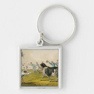 'Bull Baiting', pub. by Thomas McLean, 1820, (prin Keychain
