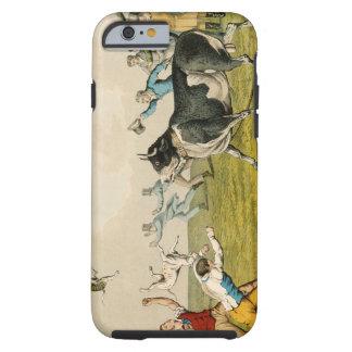 'Bull Baiting', pub. by Thomas McLean, 1820, (prin Tough iPhone 6 Case