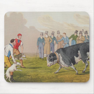 'Bull Baiting', pub.by Thomas McLean, 1820, (print Mouse Pad