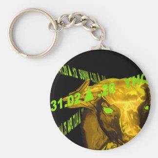 Bull Basic Round Button Keychain