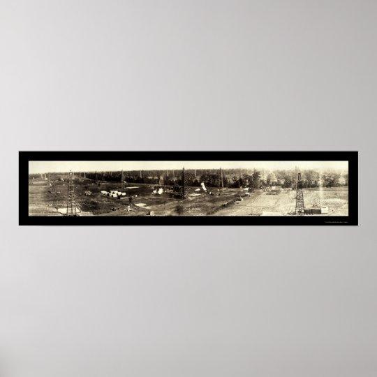 Bull Bayou Oil LA Photo 1919 Poster
