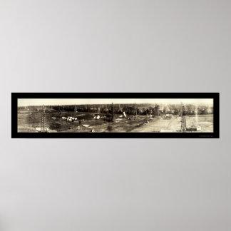 Bull Bayou Oil LA Photo 1919 Print