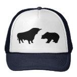 Bull bear trucker hat