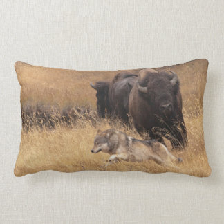 Bull Bison, Female, & Wolf Pillow