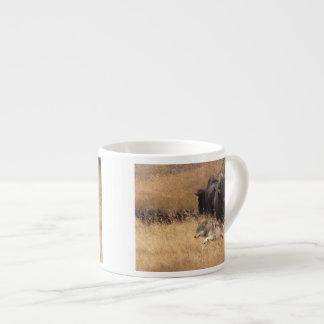 Bull Bison, Female, & Wolf Espresso Cup