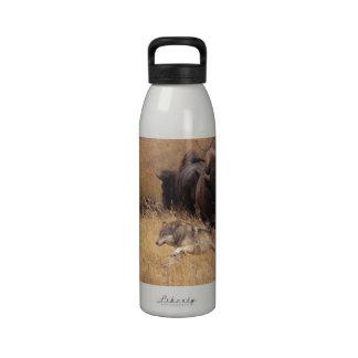 Bull Bison Female Wolf Drinking Bottle