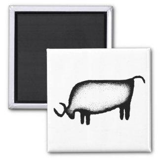 Bull - black refrigerator magnets