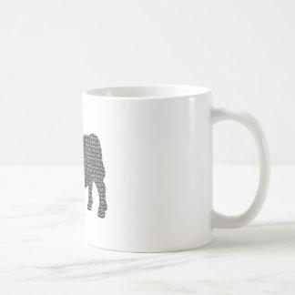 Bull bloqueó taza de café