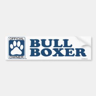 Bull Boxer Blue Bumper Sticker