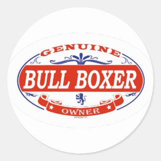 Bull Boxer  Classic Round Sticker
