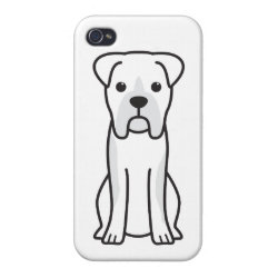 Case Savvy iPhone 4 Matte Finish Case with Boxer Phone Cases design