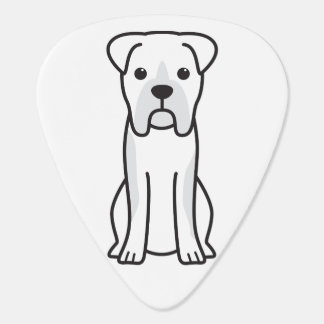 Bull Boxer Dog Cartoon Guitar Pick