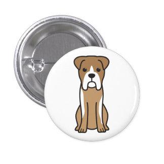Bull Boxer Dog Cartoon Pinback Button