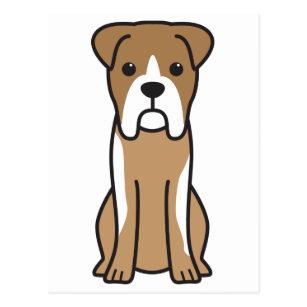 cartoon boxer dog postcards zazzle rh zazzle com boxer dog cartoon boxer dog cartoon face