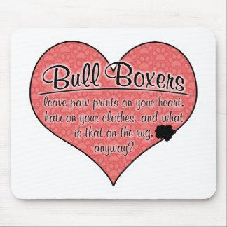 Bull Boxer Paw Prints Dog Humor Mousepad