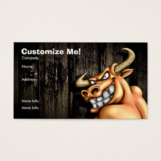 Bull Card / Customizable